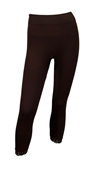 Plus Size Knee High Lace Trim Legging Brown