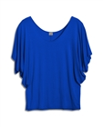 Plus Size Dolman Sleeve Top Royal Blue