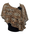 Plus size Layered Poncho Top Animal Print