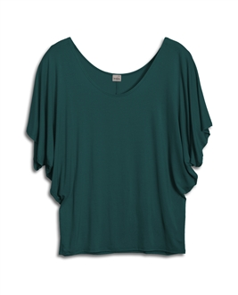 Plus Size Dolman Sleeve Top Hunter Green