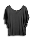Plus Size Dolman Sleeve Top Heather Gray