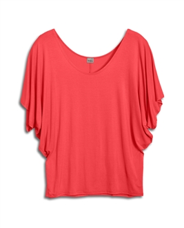 Plus Size Dolman Sleeve Top Coral