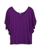 Plus Size Dolman Sleeve Top Plum