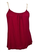 Plus size Gold Chain Strap Cami Top Burgundy