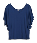 Plus Size Dolman Sleeve Top Navy Blue