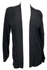 Plus size Open Front Cardigan Charcoal Gray