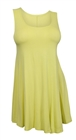 Plus Size Sleeveless Dress Top Lime