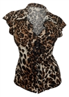 Plus Size Sexy Lace Corset Top Animal Print 2
