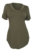Women's Ballet Tunic Top Olive Green