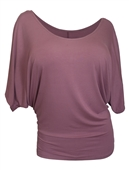 Plus Size Dolman Sleeve Top Orchid