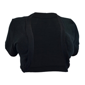 Womens' Open Front Cropped Bolero Shrug Black