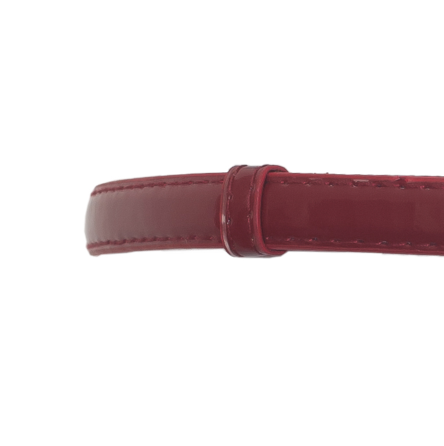 Plus size Adjustable Hook And Eye Buckle Patent Leather Skinny Belt Red Photo 2