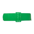 Plus Size Wide Patent Leather Fashion Belt Green