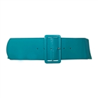 Women's Wide Patent Leather Fashion Belt Teal