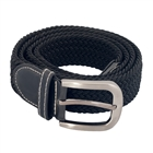 Plus Size Braided Woven Stretch Belt Black