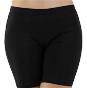 Women's Lightweight Mid Thigh Cotton Shorts Black