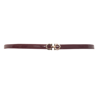 Plus size Adjustable Patent Leather Skinny Belt Red