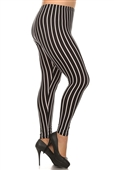 Women's Plus Size Soft Full Length Printed Leggings Multi 17312C
