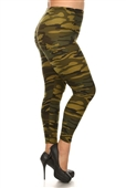 Women's Plus Size Soft Full Length Printed Leggings Multi 17312D