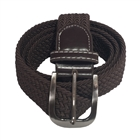 Plus Size Braided Woven Stretch Belt Brown
