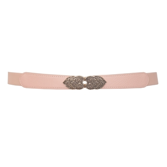 Plus Size Heart Buckle Skinny Belt Baby Pink