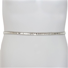 Plus Size Rhinestone Chain Belt Silver