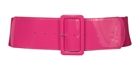 Women's Wide Patent Leather Fashion Belt Pink