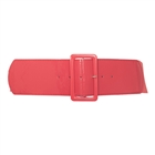 Plus Size Wide Patent Leather Fashion Belt Coral 18912