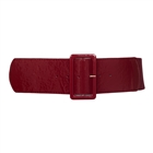 Plus Size Wide Patent Leather Fashion Belt Burgundy 18912