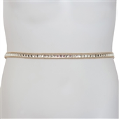 Plus Size Rhinestone Chain Belt Gold 1918