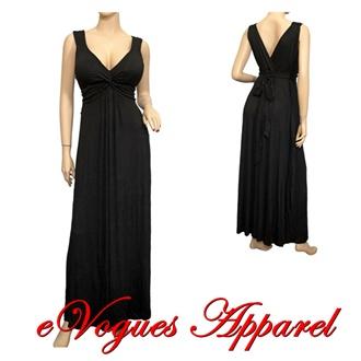 Black empire waist maxi dresses