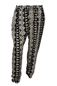 Plus size Bohemian Baggy Pants White Black
