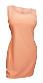 Plus size Sleeveless Bodycon Mini Dress Peach