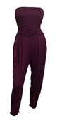 Plus Size Jumpsuit Wine