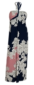 Plus size Maxi Halter Dress Designer Print