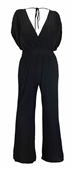 Plus Size Sleeveless Dressy Jumpsuit Black