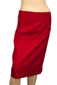 Jr Plus Size Pencil Skirt Red