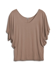 Plus Size Dolman Sleeve Top Light Brown