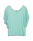 Plus Size Dolman Sleeve Top Peppermint