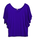 Plus Size Dolman Sleeve Top Violet Blue