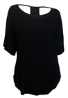 Plus size Racerback Dolman Top Black