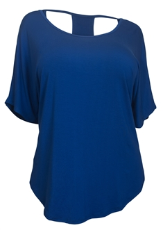 Plus size Racerback Dolman Top Royal Blue