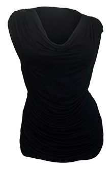 Plus Size Cowl Neck Top Black