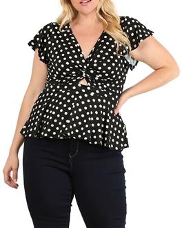 172aec917c0 Junior plus size   women s plus size v-neck tops