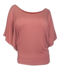 Plus Size Dolman Sleeve Top Peach