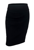 Plus Size Pencil Skirt Black