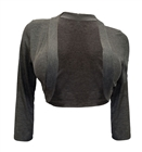 Plus Size 3/4 Sleeve Cropped Bolero Shrug Gray