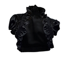 Sexy Black Ruffled Collar Cropped Wrap Plus Size Shrug Bolero