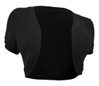 Plus Size Cropped Bolero Shrug Black