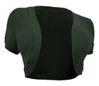 Plus Size Cropped Bolero Shrug Olive